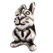 5 x Bunny King Charms Beads Antique Silver Tone Fits Pandora Biagi Troll Chamilla Other European Charm Bracelet #MEC-18