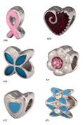 6pcs Mixed Beautiful Charms Beads Enamel & Antique Silver Tone Fits Pandora Biagi Troll Chamilla Other European Charm Bracelet #MEC68-73