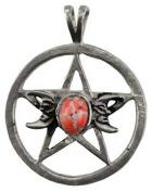 Azuregreen Triple Moon-Pentagram Spell Spiritual Amulet Pendant