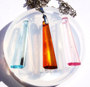 Clear-silicone pendants, earrings Mould. BIG Size 59X10mm. Handmade item.