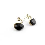 2 Pairs Earrings Ear Jewellery Making Charms Ear Stud Hooks Clips Pin Cuff W0296 Swan