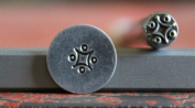 Supply Guy 5mm Border Pattern with Circles Metal Punch Design Stamp A-22