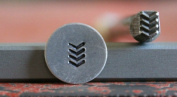 Supply Guy 5mm Military Stripes Metal Punch Design Stamp A-73