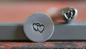 Supply Guy 5mm Double Overlapping Heart Metal Punch Design Stamp A-61