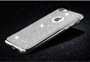 iPhone 6 case,Inspirationc® Beauty Luxury Diamond Soft TPU Anti Scratch Protective Case Cover Skin Bumper with Electroplating Frame for iPhone 6/6S 12cm --Silver