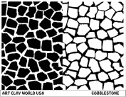 Art Clay World USA Low Relief Texture Plate Cobblestone Design - 1 Pc.