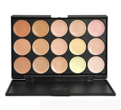 PhantomSky 15 Colour Cream Concealer Camouflage Makeup Palette Contouring Kit #2 - Perfect for Professional and Daily Use