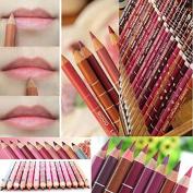Aoohe 12 Colours Lipliner Waterproof Lip Liner Pencil Makeup Set