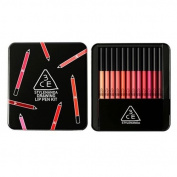 3CE Drawing Lip Pen 12pcs Kit Lipstick Lipliner Lip Crayon Genuine from Korea