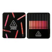 3CE Drawing Lip Pen 12pcs Kit Lipstick Lipliner Lip Crayon Genuine from Korea