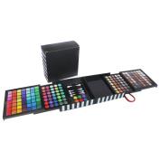 Aoohe Professional Eyeshadow Powder Blush Palette 177 Colour Cosmetics Makeup Eye Shadow with Form Gift Set Sponge & Mirror