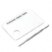 Q-COOL Makeup Cosmetic Acrylic Mixing Palette with Stainless Spatula Tool