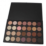 New Professional 28 Colour Neutral Warm Eyeshadow Palette + Free Makeup DVD and Free Designer Tote Bag