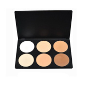 DE'LANCI Pro 6 Warm Colours Cosmetic Foundation Powder Complete Camouflage Highlighting and Contouring Make Up Foundation Palette Set Face Contour Kit