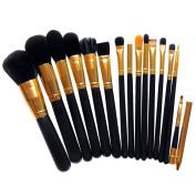 AMarkUp 15 Pcs Makeup Brushes Set Women Eyeshadow Eyeliner Lip Cosmetic Brush Kit Tool Face Eyes Blush Brush