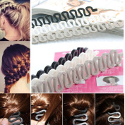 6PCS OPCC Fashion French Hair Styling Clip Stick Bun Maker Braid Tool Hair Accessories Twist Plait Hair Braiding Tool