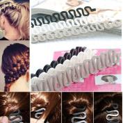 6PCS OPCC Fashion French Hair Styling Clip Stick Bun Maker Braid Tool Hair Accessories Twist Plait Hair Braiding Tool