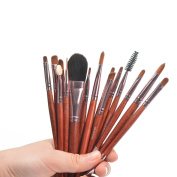 BININBOX 15 pcs/set Makeup Brush Set Eyeshadow Blush Eyebrow brush