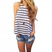 Orangesky Women Summer Stripe Vest T Shirt Casual Blouse Tank Tops