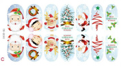 1 Set Gorgeous Popular Nails Art Sticker Christmas Decal Full Design Decor Tips Pattern 03