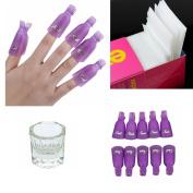 Beautyinside All Season Glass Dappen Dish + 325pcs Lint Free Nail Art Gel Polish Remover Cotton Pad Nail Wipe