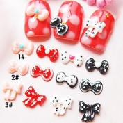 Kaifina 10pcs 3D Resinic Bowknots Nail Decorations