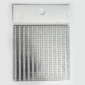 Kaifina 3D Bling Mosaic Sticker Silver Nail Art Decoration