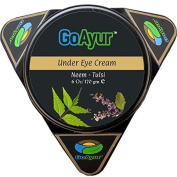GoAyur Neem Tulsi Ayurvedic Under Eye Cream Natural Anti Wrinkles Under Eye Cream, Reduces Dark Circles, Puffiness, Herbal Age-Defying Eye Cream, 100% Herbal Actives, Natural Fragrance, 180ml