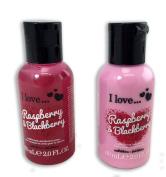 I Love Raspberry & Blackberry Bubble Bath and Shower Creme