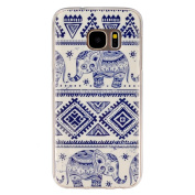 BLT® Soft TPU Cute Elephant Pattern Crystal Rubber Flexible Slim Case for for  for  for  for  for  for  for  for Samsung        Galaxy S7 with a Screen Protector