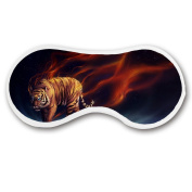Promini Angry Tiger Sleep Mask with Strap Lightweight Comfortable Eye Mask for Bedtime or Relaxation, Travel, Shift Work, Meditation
