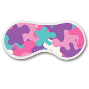 Promini Pink Teal Purple Camouflage Pattern Sleep Mask with Strap Lightweight Comfortable Eye Mask for Bedtime or Relaxation, Travel, Shift Work, Meditation