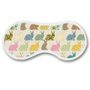 Promini Rabbits Sleep Mask with Strap Lightweight Comfortable Eye Mask for Bedtime or Relaxation, Travel, Shift Work, Meditation