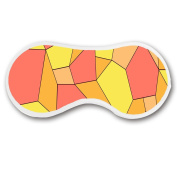 Promini Yellow Orange Irregular Square Slice Sleep Mask with Strap Lightweight Comfortable Eye Mask for Bedtime or Relaxation, Travel, Shift Work, Meditation
