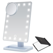 Miss Sweet LED Cosmetic Mirror Table Mirror Movable, 7*25cm