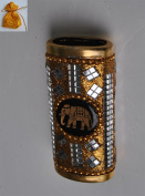 Beautiful Thai Unique Ancient Designed Gold Silver Tone Lighter Sheath Case Holder For Gift Souvenir Collectible