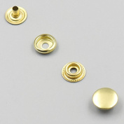 "Bluemoona 20 Sets - 15mm 5/8"" Brass Snap Fastener Leather Rapid Rivet Button Sewing"