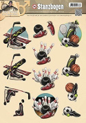 Find It Trading SB10041 Amy Design Punchout Sheet, It's a Man's World Sports, Multicolor