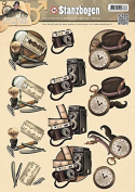 Find It Trading SB10040 Amy Design Punchout Sheet, It's a Man's World Shave, Camera & Watch, Multicolor