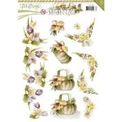 Find It Trading SB10083 14 Punchouts Springtime Precious Marieke Punchout Sheet, Multicolor
