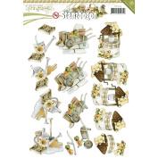 Find It Trading SB10084 18 Punchouts Springtime Precious Marieke Punchout Sheet, Multicolor