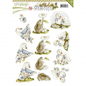Find It Trading SB10085 16 Punchouts Springtime Precious Marieke Punchout Sheet, Multicolor