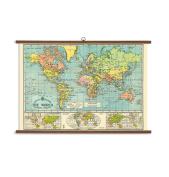 Cavallini & Co. Vintage Style World Map School Chart