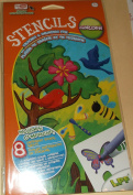 LPF Stencils - Tracing & Drawing Fun - Garden- Stencils & 3 Markers
