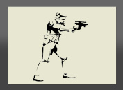 Apex Laser Ltd Star Wars Stormtrooper Mylar Stencil A4 297x210mm Wall Art, Furniture Stencil, Fabric Stencil