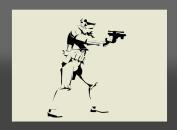 Apex Laser Ltd Star Wars Stormtrooper Mylar Stencil A4 297x210mm Wall Art, Furniture Stencil, Fabric Stencil