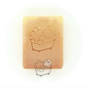 Bath pattern Mini diy soap stamp chapter seal WITH HANDLE 40*39mm