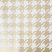 Jillson Roberts Gold Houndstooth Gift Wrap Roll, 1.5m x 80cm