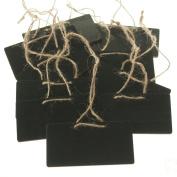 Chalkboard Wooden Rectangular Tags, 7.6cm - 1.9cm , 10-pack