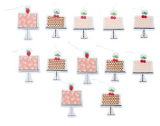 Paper Craft Strawberry Birthday Cake Gift Tags - 2 Pack - 12 Tags